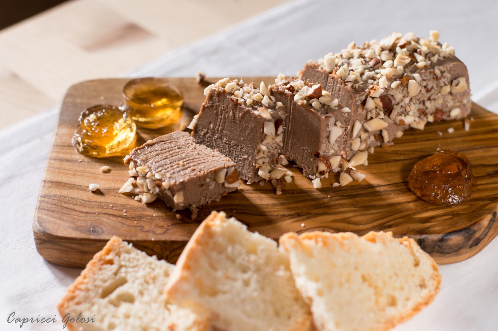 Paté di fegatini e gelatina di Vin Santo