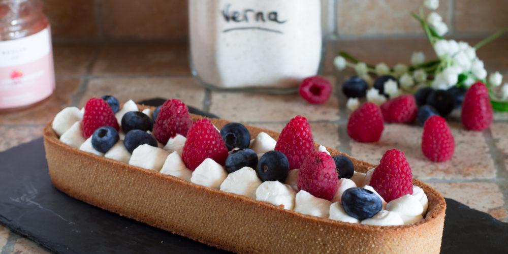 Crostata con crema di yogurt greco
